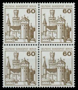 BERLIN DS BURGEN U. SCHLÖSSER Nr 537 postfrisch VIERERB 8F95E6