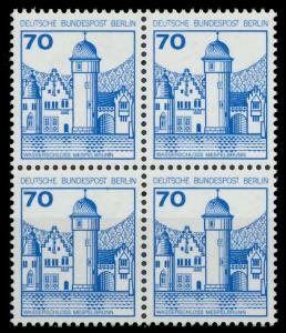 BERLIN DS BURGEN U. SCHLÖSSER Nr 538 postfrisch VIERERB 8F9616