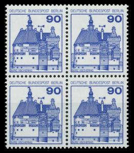 BERLIN DS BURGEN U. SCHLÖSSER Nr 588 postfrisch VIERERB 8F9692