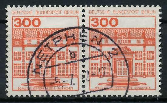 BERLIN DS BURGEN U. SCHLÖSSER Nr 677 zentrisch gestempelt WA 900F46