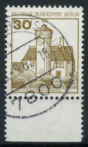 BERLIN DS BURGEN U. SCHLÖSSER Nr 534 gestempelt URA 900F66