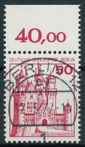 BERLIN DS BURGEN U. SCHLÖSSER Nr 536 zentrisch gestempelt OR 900F7A