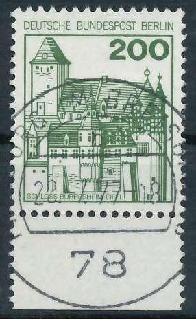 BERLIN DS BURGEN U. SCHLÖSSER Nr 540 zentrisch gestempelt UR 900F8E