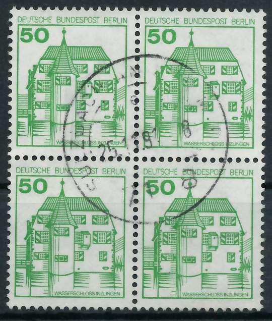 BERLIN DS BURGEN U. SCHLÖSSER Nr 615 zentrisch gestempelt VI 900F96