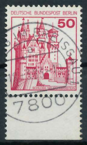 BERLIN DS BURGEN U. SCHLÖSSER Nr 536 zentrisch gestempelt UR 900F9E
