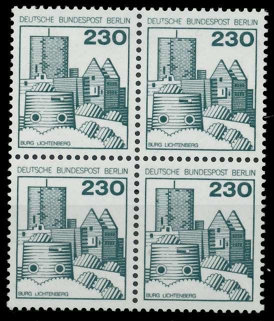 BERLIN DS BURGEN U. SCHLÖSSER Nr 590 postfrisch VIERERB 900FA6