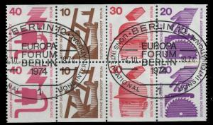BERLIN HEFTCHENBLATT Nr HB 17 zentrisch gestempelt 901046