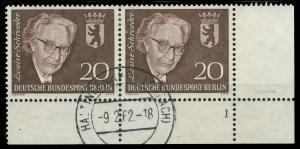 BERLIN 1961 Nr 198 zentrisch gestempelt WAAGR PAAR FORMNUMME 90675A
