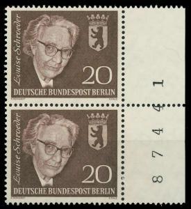 BERLIN 1961 Nr 198 postfrisch SENKR PAAR SRA 9068AE