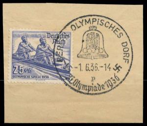 DEUTSCHES REICH 1936 Nr 615 zentrisch gestempelt Briefst³ck 906A1A