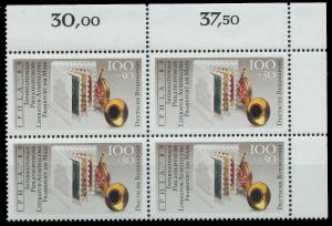 BRD 1989 Nr 1415 postfrisch VIERERBLOCK ECKE-ORE 906A2E