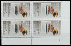 BRD 1989 Nr 1415 postfrisch VIERERBLOCK ECKE-URE 906A4A