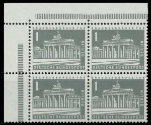 BERLIN DS BAUTEN 2 Nr 141xw postfrisch VIERERBLOCK ECKE 90ED06