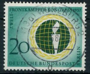 BERLIN 1957 Nr 177 zentrisch gestempelt 9203AA