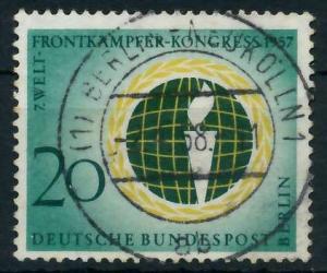 BERLIN 1957 Nr 177 zentrisch gestempelt 9203B2