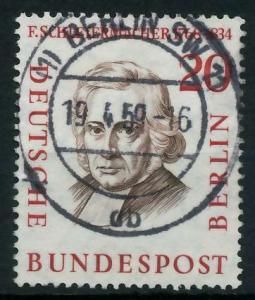 BERLIN 1957 Nr 167 zentrisch gestempelt 9203D6