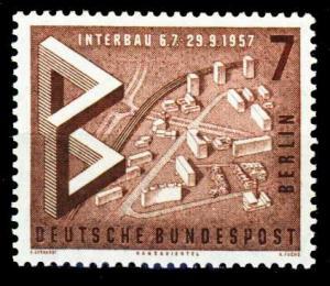 BERLIN 1957 Nr 160 postfrisch S9797F6