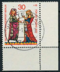 BERLIN 1970 Nr 356 zentrisch gestempelt ECKE-URE 9205B2