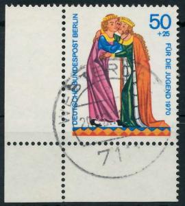 BERLIN 1970 Nr 357 zentrisch gestempelt ECKE-ULI 9205B6