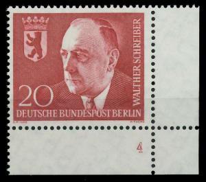 BERLIN 1960 Nr 192 postfrisch FORMNUMMER 4 8E2972