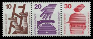 BRD ZUSAMMENDRUCK Nr W39 postfrisch 3ER STR S9799FA