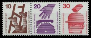 BRD ZUSAMMENDRUCK Nr W39 postfrisch 3ER STR S9799F6