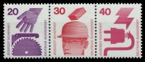 BRD ZUSAMMENDRUCK Nr W41 postfrisch 3ER STR S979A5A