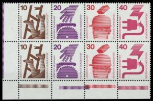 BRD HEFTCHENBLATT Nr H-Blatt 23 postfrisch HB ECKE-ULI 92067E
