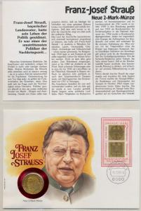 NUMISBRIEF 2 MARK VERGOLDET F.J.STRAUSS 9206EE