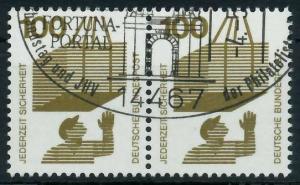 BRD DS UNFALLVERHÜTUNG Nr 702A gestempelt WAAGR PAAR 926B12