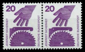 BRD DS UNFALLVERHÜTUNG Nr 696A postfrisch WAAGR PAAR S9826E6