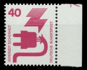 BRD DS UNFALLVERHÜTUNG Nr 699A DZ7 postfrisch 926CD6