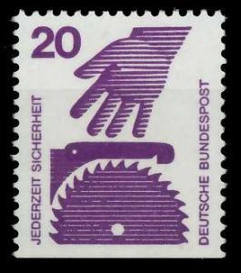 BRD DS UNFALLVERHÜTUNG Nr 696D postfrisch 926CE6