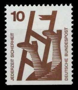 BRD DS UNFALLVERHÜTUNG Nr 695D postfrisch 926CEA
