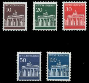 BRD DS BRANDENBURGER TOR Nr 506w-510w postfrisch 926D52