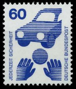 BRD DS UNFALLVERHÜTUNG Nr 701A postfrisch S98298E