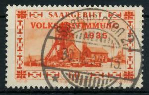 SAARGEBIET 1934 Nr 186 zentrisch gestempelt 82F0FA