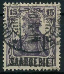 SAAR GERMANIA Nr 34 gestempelt 886462
