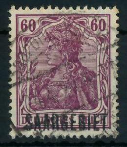 SAAR GERMANIA Nr 39b zentrisch gestempelt 886486