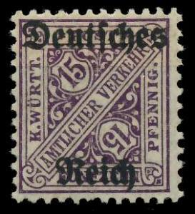 DEUTSCHES REICH DIENSTMARKEN 1920 Nr 59 ungebraucht 9367DA