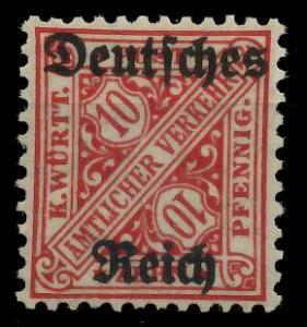 DEUTSCHES REICH DIENSTMARKEN 1920 Nr 58 ungebraucht 9367DE