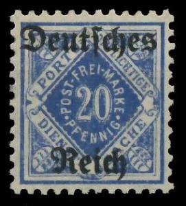 DEUTSCHES REICH DIENSTMARKEN 1920 Nr 55X ungebraucht 9367E2