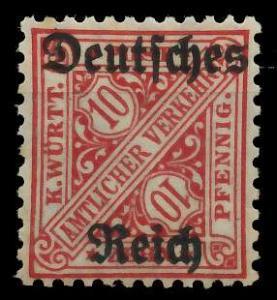 DEUTSCHES REICH DIENSTMARKEN 1920 Nr 58 ungebraucht 939F7A