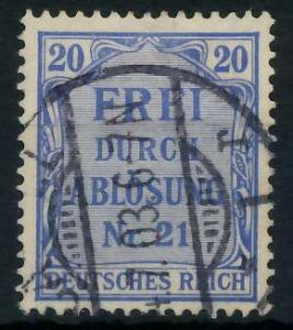 DEUTSCHES REICH DIENSTMARKEN 1903 05 Nr 5 gestempelt 939F96