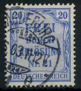 DEUTSCHES REICH DIENSTMARKEN 1903 05 Nr 5 gestempelt 939F9A