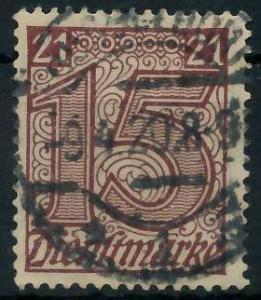 DEUTSCHES REICH DIENSTMARKEN 1920 Nr 18 gestempelt 939FA2