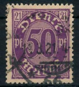 DEUTSCHES REICH DIENSTMARKEN 1920 Nr 21 gestempelt 939FA6