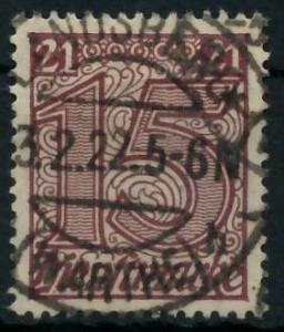 DEUTSCHES REICH DIENSTMARKEN 1920 Nr 18 gestempelt 939FAA