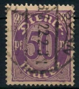 DEUTSCHES REICH DIENSTMARKEN 1920 Nr 21 gestempelt 939FB2