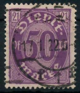 DEUTSCHES REICH DIENSTMARKEN 1920 Nr 21 gestempelt 939FB6